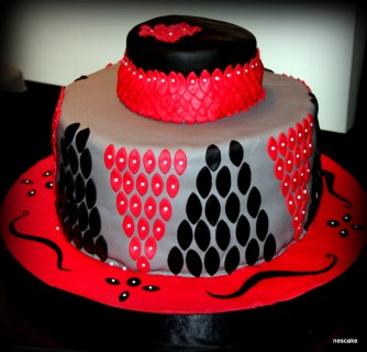 Red&Black Special Occasion Cake- min. 30 person