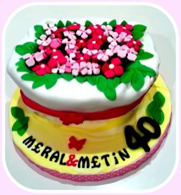 Flowers in Pot Cake- min 15 person