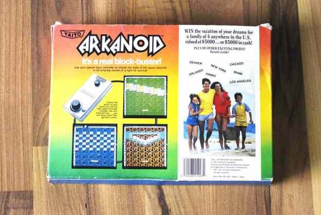 NES Arkanoid (Rückseite) (Highlights und Kurioses)