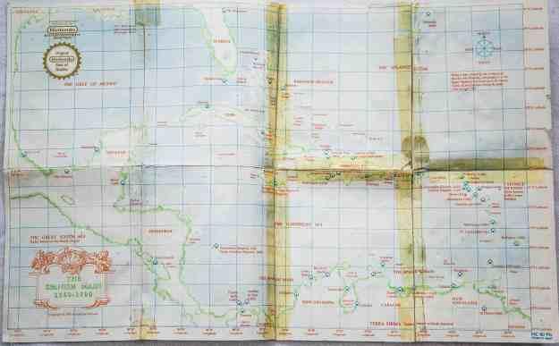 Die Karte von Pirates!