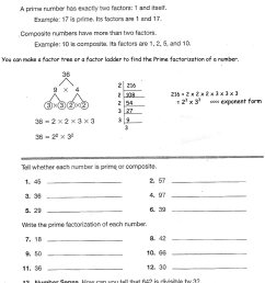 Prime And Composite Numbers Worksheets   Printable Worksheets and  Activities for Teachers [ 2808 x 2159 Pixel ]
