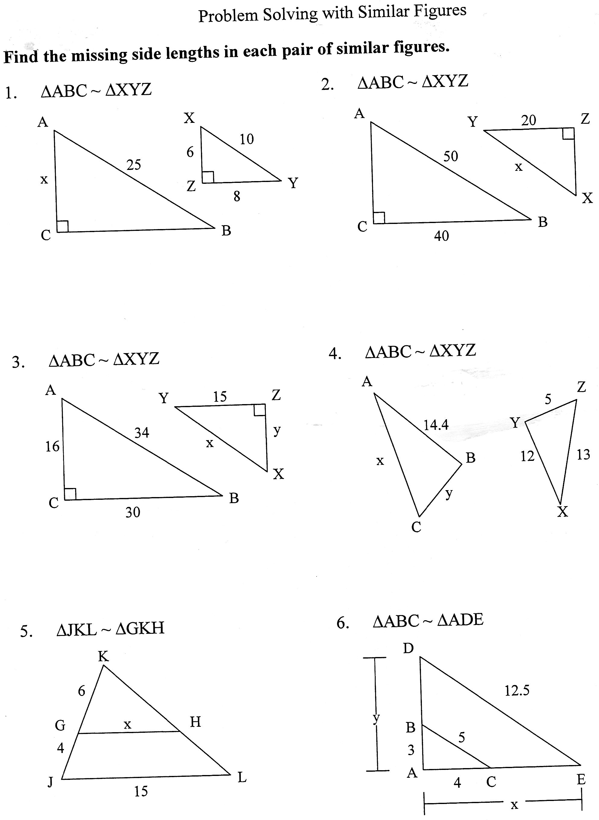 Problem Solving Worksheets For 7th Grade Math