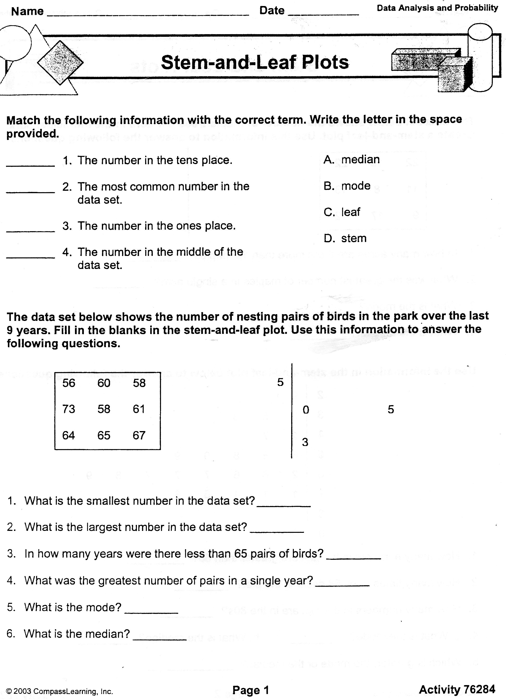 what is a stem and leaf diagram chevy alt wiring turchi ms e mathematics toc pre algebra periods 2 3 5 7