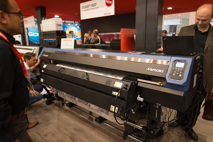 Mimaki TS300 dye sublimation printer.