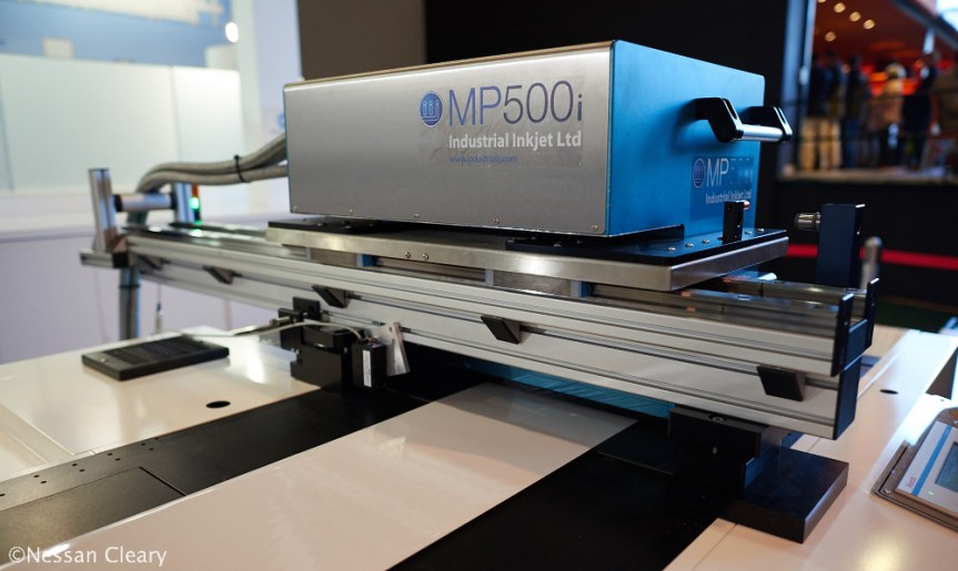 Industrial Inkjet launched this high speed single colour print unit, the MP500i.