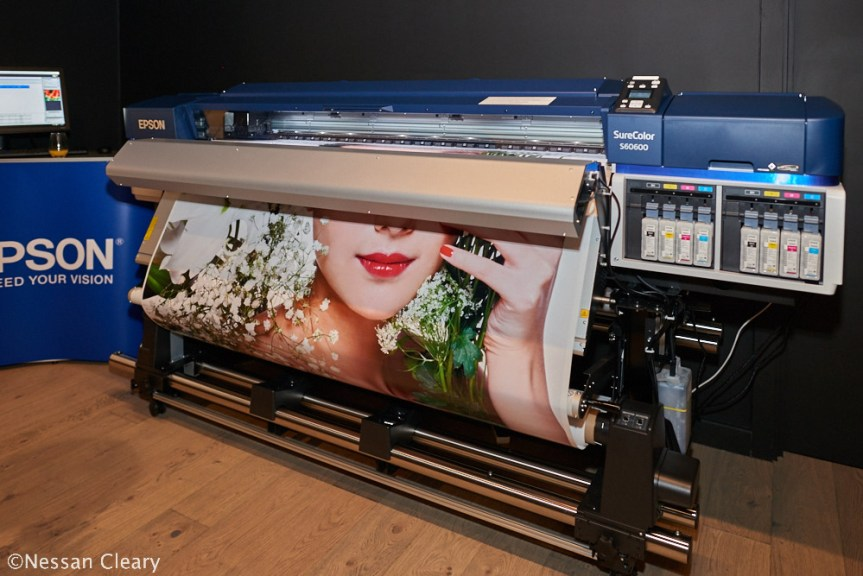 The new SureColor SC-S60600 - complete with dual printheads and two sets of CMYK.