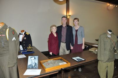 Roger, wife Linda and mother Mary Rotschaefer #2 three generations of uniforms