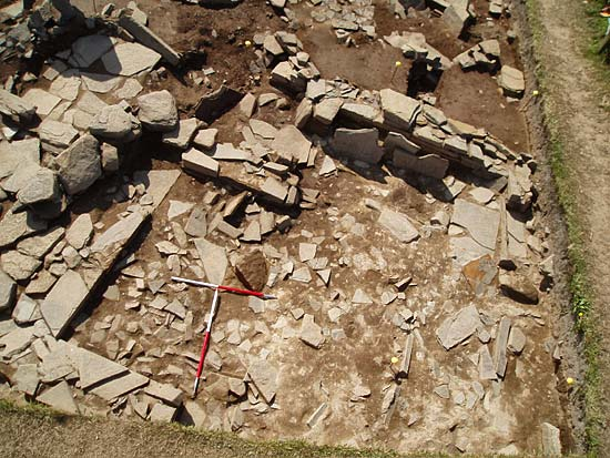 Aerial view of Structure 11 - these are still just secondary deposits with primary floor levels still a long way off.