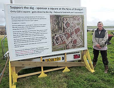 """The new """"Sponsor-a-Square"""" display, with Caz Mamwell."""