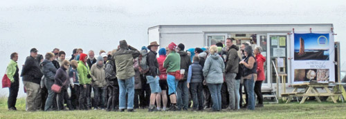 Crowds gather for a bumper afternoon tour.