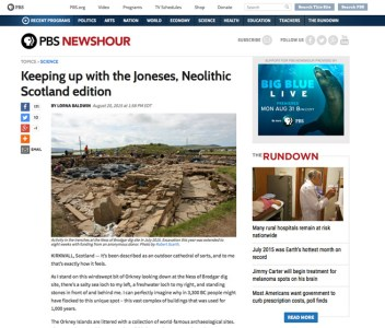'Keeping up with the Joneses' in Neolithic Orkney