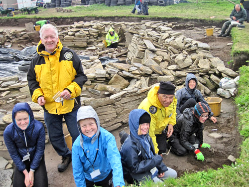 Despite the howling wind, there were some happy faces at today's Excavation Club.