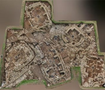 The Ness of Brodgar excavation site —in three dimensions