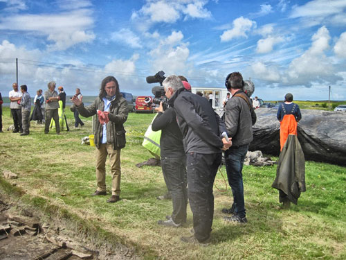 A warm welcome back to Neil Oliver, who started filming today.