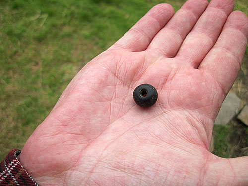 David's star find - a large, stone bead.