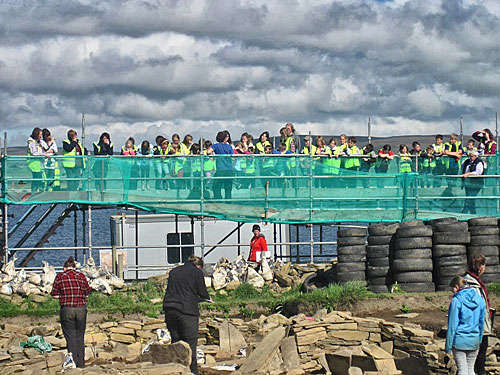 Stenness School make their now regular visit to the site on their second day back after the summer holidays.