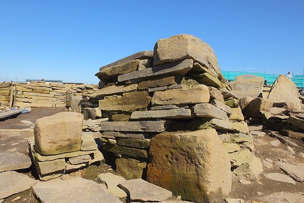 Structure 1: The precious rocks used in the buildings need protection over the winter.