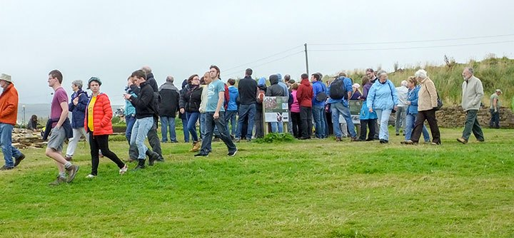 Visitors beginning to arrive on site at one of our annual open days. (Jo Bourne)