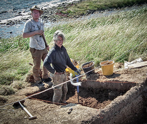 Emmanuelle and Marcus at work on the Trench Y extension this afternoon.