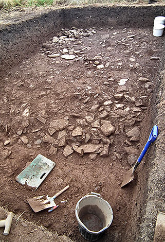 The rubble spread in Trench Y.