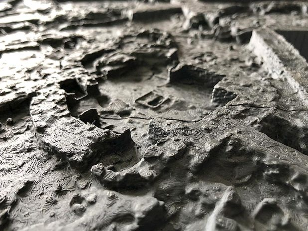 A close-up view of Mark's 3D model of Trench P
