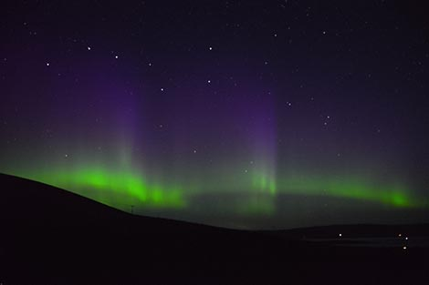 The Northern Lights on Wednesday night. (Sue Shackelton)