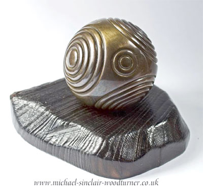 Bidding is now open for this beautiful bronze petrosphere, created and donated by Orkney woodturner Michael Sinclair.