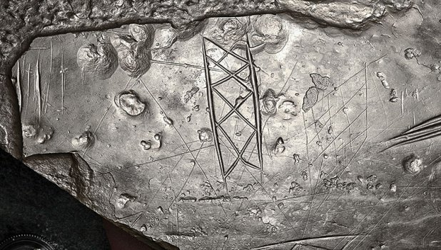 An example of the detail captured on an RTI model - this one showing an incised stone from the Ness. (Michael Sharpe)