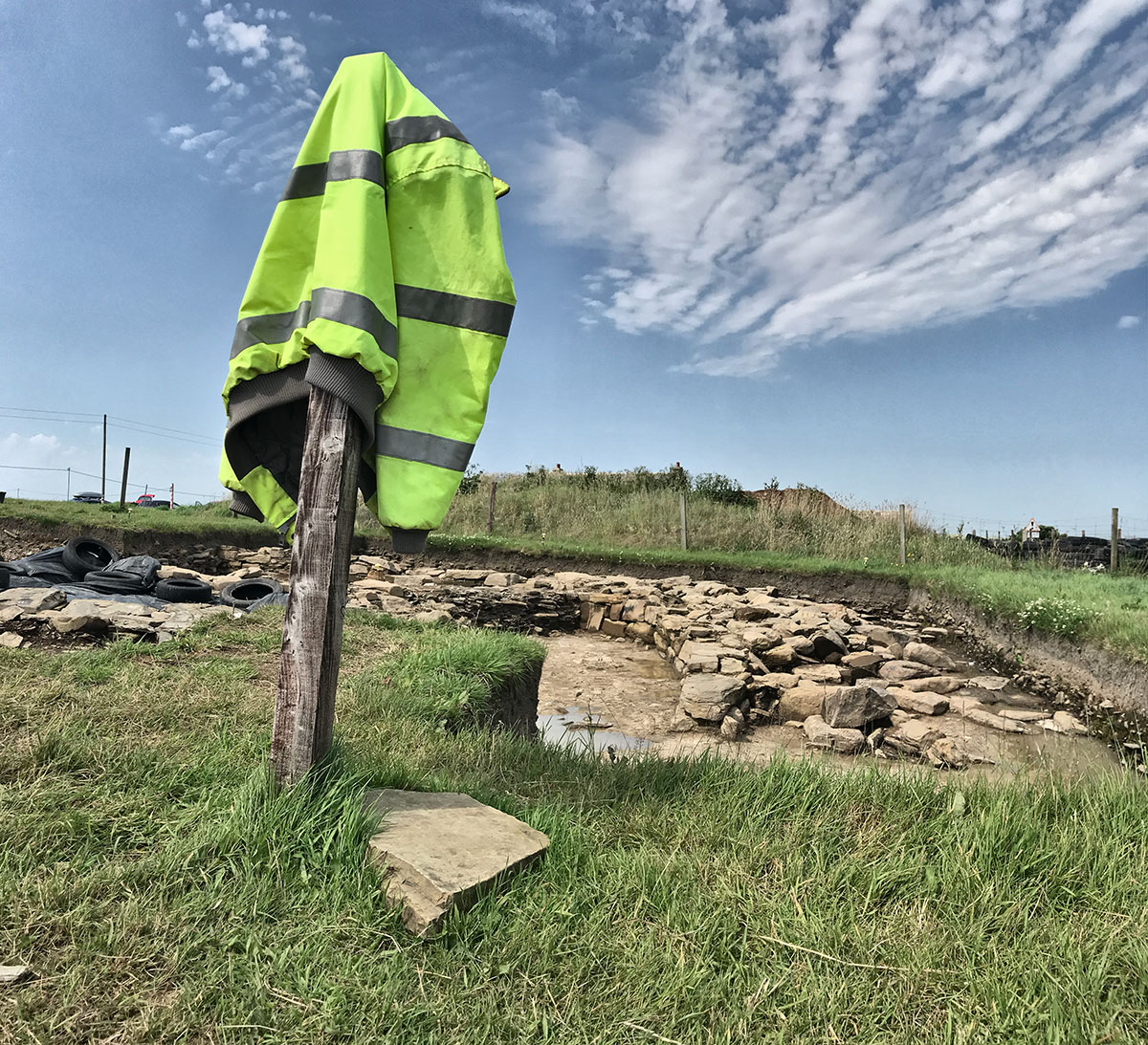 The 'Great Wall of Brodgar'. Trench J.
