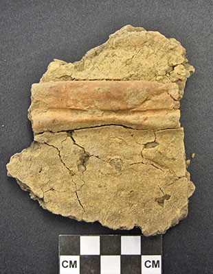 Another sherd exhibiting applied colour.