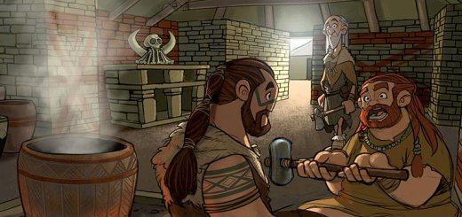 Interior scene, set in Ness of Brodgar Structure Eight. (Alex Leonard © ALT_Animation)