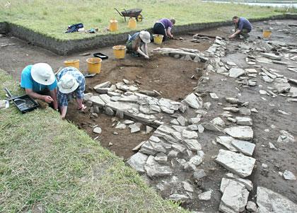 Excavation under way on Structure Eight.