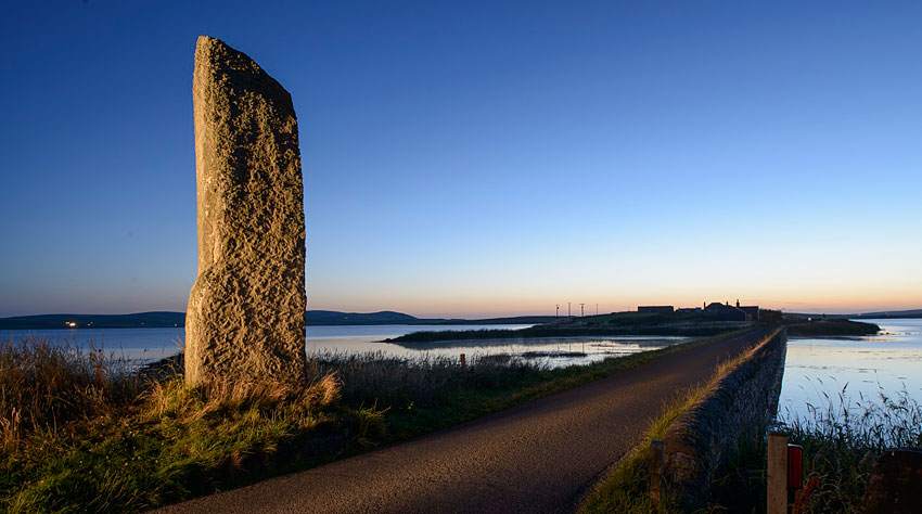 The Watchstone and the Brig o' Brodgar (Jim Richardson)
