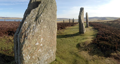 The Ring of Brodgar is surrounded by Bronze Age burials. (Sigurd Towrie)