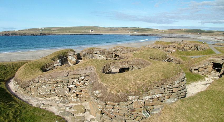 Skara Brae Neolithic settlement, Sandwick, Orkney. (Sigurd Towrie)