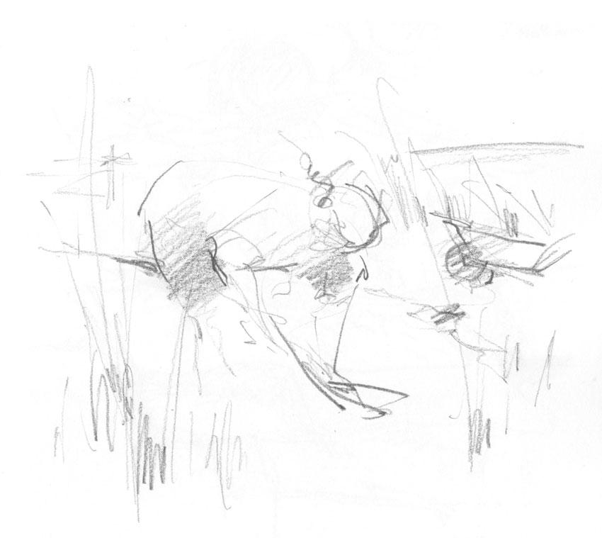 Mike digging. (Karen Wallis)