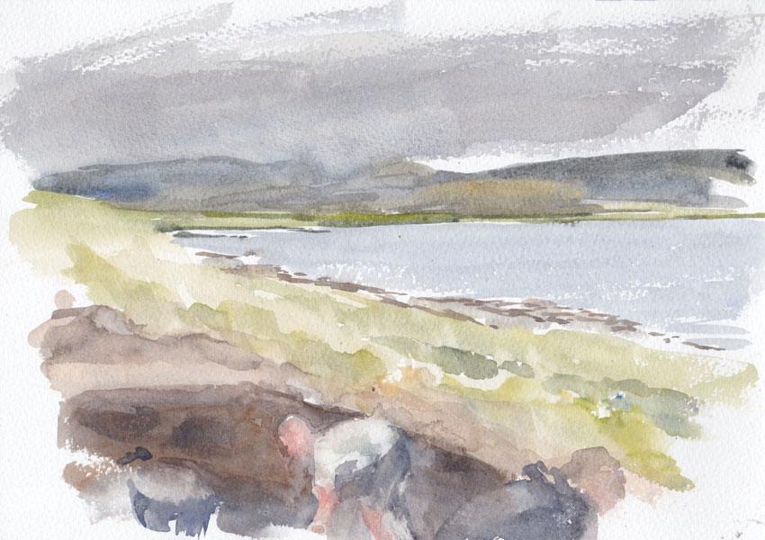 Trench Y watercolour. (Karen Wallis)