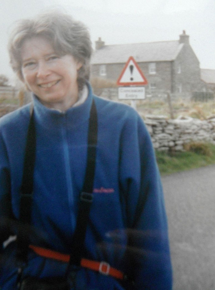 Beverly Ballin Smith, from GUARD, outside the site. (Joanna Lawson)