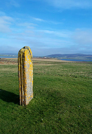 The Comet Stone, looking south-east towards Mid Hill. (Sigurd Towrie)