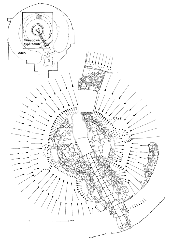 Plan of the Maeshowe-type passage grave encountered at Howe. (Ballin-Smith 1994)