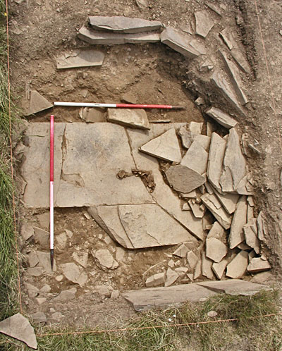 June 2002: the human remains found on the floor of the north-western cell. (ORCA)