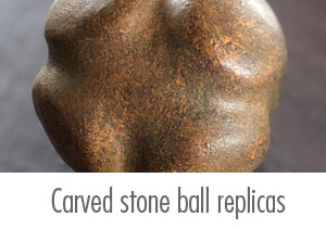 Ness of Brodgar Carved Stone Ball replicas