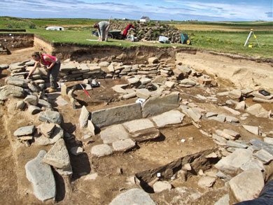 The longhouse under excavation in 2007. (Sigurd Towrie)