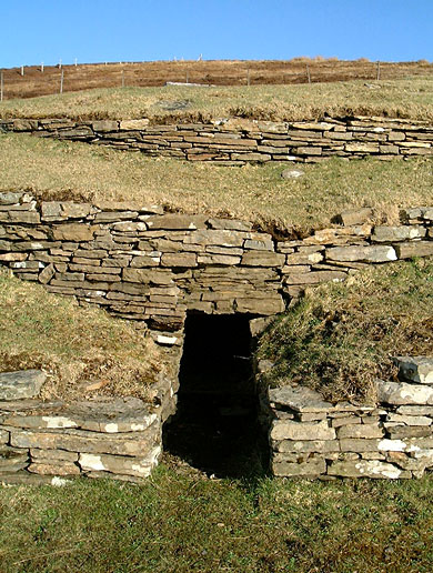 The west-facing entrance to the Wideford Hill cairn. (Sigurd Towrie)