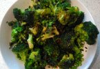minted broccoli and peas