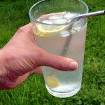 Elderflower Lemon Water