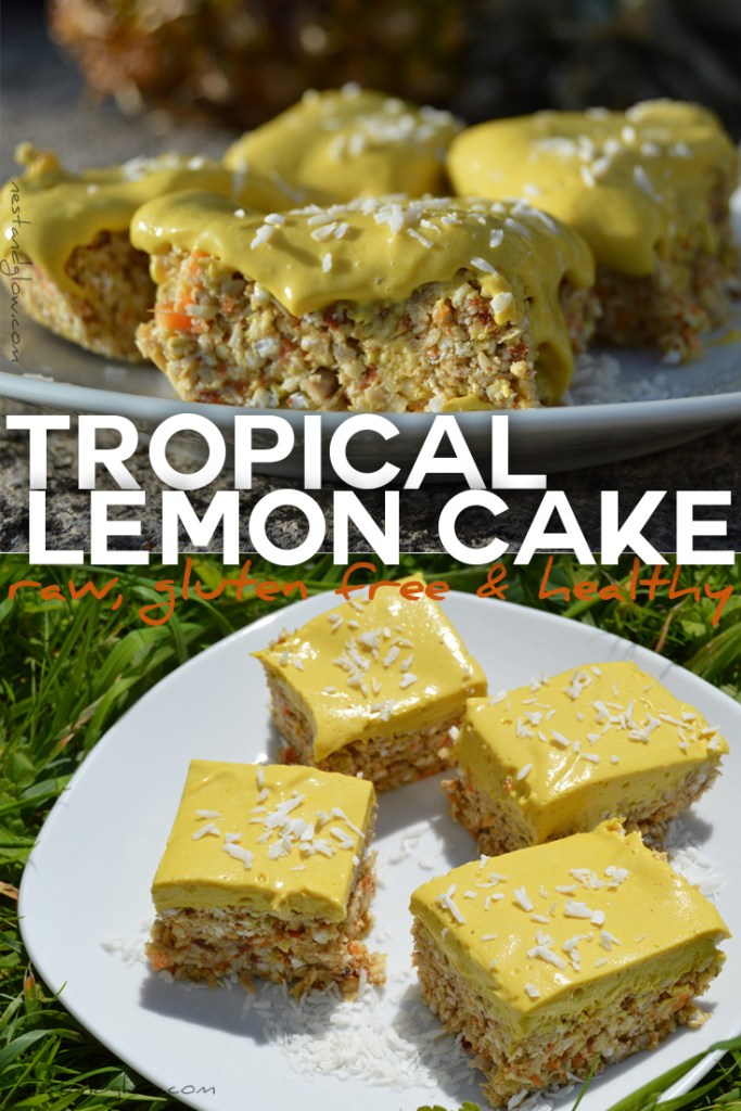 Easy recipe for a raw tropical lemon cake
