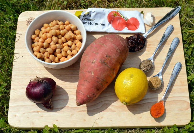 Ingredients for Sweet Potato Falafel