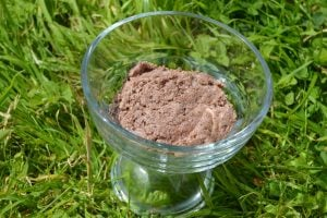 Quick Raw Chocolate Spread in a bowl