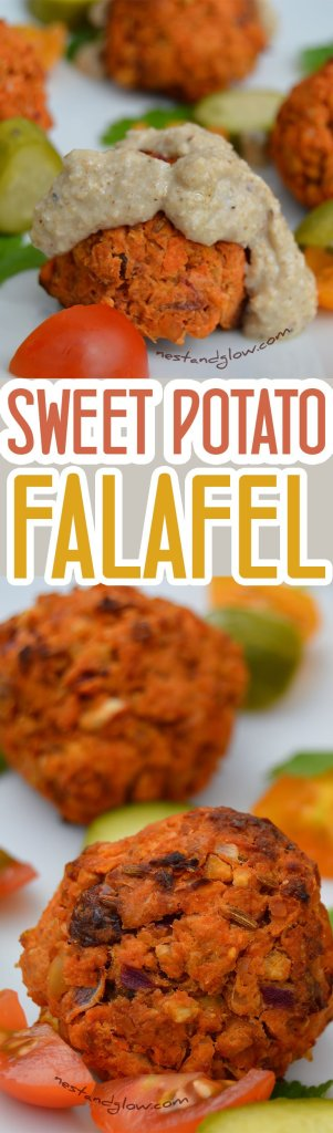 Sweet potato Falafel with Cumin, lemon rind and raisins